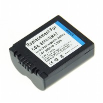 Battery Replacement for Panasonic Lumix DMC-FZ Series DMW-BMA7 CGA-S006 CGAS600 - 800mAh - Black