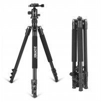 Zomei Professional DSLR Tripod And Ball Head - Q555 - Black