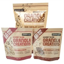 Granola Creations Paket Hemat 1 (1 pc Granola 240 gr + 2 Pcs Granola on The Go Size)