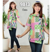 [POP UP AIA] Simple Blouse Batik 9073