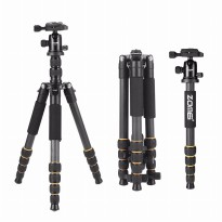 Zomei Aluminium Tripod Photo And Video With Ball Head - Q666 - Black