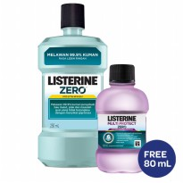 Listerine Zero 250ml [Free Multi Protect 80ml]