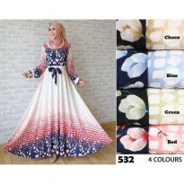 Baju Wanita Longdress Gamis Bubble Pop Maxidress