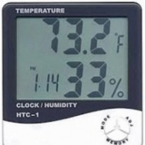 Digital thermometer hygrometer with clock