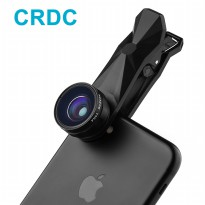 CRDC Lensa 3in1 Fisheye Wide Macro Clip-on - PL-AC1 - Black