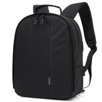 Tas Kamera DSLR Waterproof - Black/Red