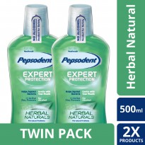 [TWIN PACK] Pepsodent Mouthwash Herbal Natural 500ML