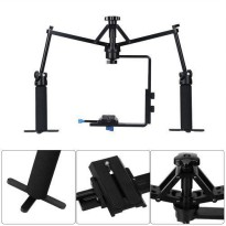 Handheld Stabilizer Camera Rig Gimbal 2-Axis for DSLR Canon Nikon Sony - Black