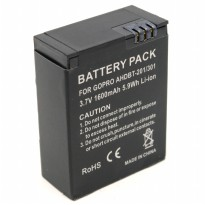 Battery Replacement 1600mAh for GoPro HD Hero 3 - AHDBT-201/301 - Black