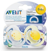 PHILIPS AVENT BABY SOOTHER/ PACIFIER/ EMPENG BAYI NIGHTTIME TWIN PACK