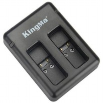 KingMa Charger Baterai USB Type C 2 Slot GoPro Hero 5/6 - BM042 - Black