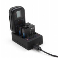 Telesin Charger Baterai + Charger WiFi Remote Control for GoPro Hero 6/5/4 - Black