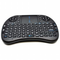 Keyboard Wireless 2.4GHz dengan Touch Pad And Fungsi Mouse - Black