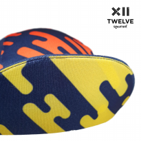 Twelve Squared Ring of Fire Cycling Cap - Hot Lava of Mount Rinjani