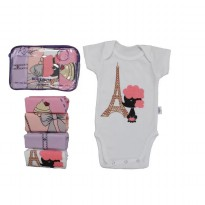 KAZEL Bodysuit GIRL / JUMPER BABY / ( 4PCS )
