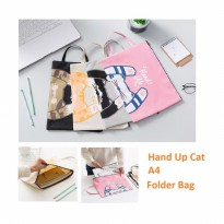 PF15 Multifunction Pouch MAP Hand Up Cat A4 Stationery File Folder