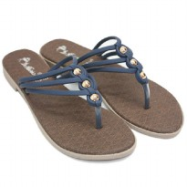 Dr, Kevin Women Flat Sandals 571-016 - Navy