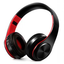 Super Bass Wireless Bluetooth Headphone with TF And Mic - Black/Red