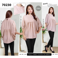 [POP UP AIA] Simple Blouse Atasan Wanita 70230 -
