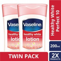 [TWIN PACK] Vaseline Lotion Healthy White Perfect 10 200ML