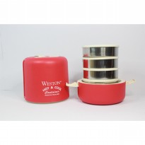 Weston Hot & Cool 13.5 cm 4 Stacks Merah