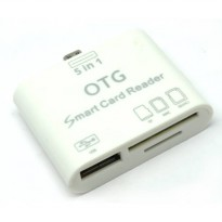 5 in 1 Micro USB Card Reader for Android Smartphones Tablets - White