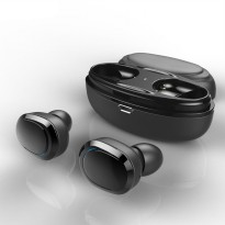 True Wireless Earphone Bluetooth dengan Charging Case - Black