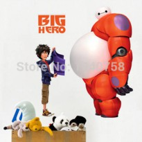 [globalbuy] Big Hero Wall Stickers for Kids Nursery Home Decoration Baymax Hiro Decorative/1452597