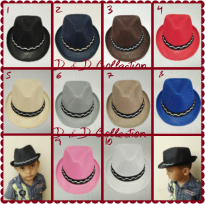 D & D Hat Collection Topi Fedora Jazz / Tompi Anak Motif Polos