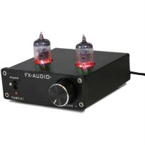 Fx-Audio Vacuum Tube Speaker Pre Amplifier HiFi Audio - Black