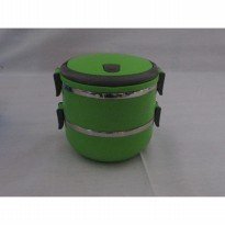 TEMPAT MAKAN STAINLESS LUNCH BOX ROUND 2 LAYER