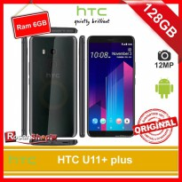 HTC U11+ / HTC u11 plus -128GB - RAM 6GB - 12MP - Garansi 1Thn - Original 100%