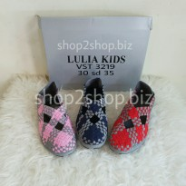 LULIA KIDS VS3219 FLAT SHOES FOR GIRL SEPATU ANYAM SIZE 30 S/D 35