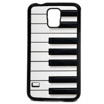 Custom Case Motif Piano Keyboard for Samsung Galaxy S5 Case Casing Cover - Hitam