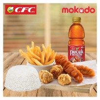 [CFC] Deals 6 (2 Chicken Strips,3 Chicken Pop,French Fries)+1 nasi+1 drink(Berlaku Jabodetabek saja)