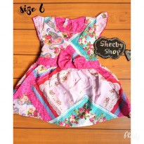 MEETOO DRESS KATUN ANAK 1-7 TAHUN / DRESS ANAK / DRESS BAYI / DRESS MOTIF / BAJU ANAK
