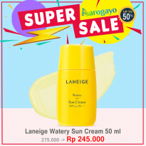 [sarogayo] READY Laneige Watery Sun Cream SPF 50+++ FULL SIZE 50 ml