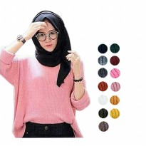 Sweater Boxy Jumbo Size Premium Knit Tebal FIT XXL - 15 Colors