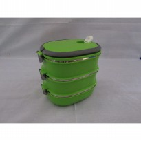 TEMPAT MAKAN STAINLESS LUNCH BOX SQUARE 3 LAYER