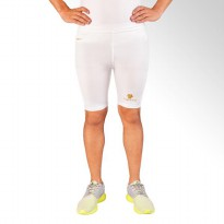 Tiento Baselayer Compression Celana Olahraga Tight Legging Short Pants White Gold Original