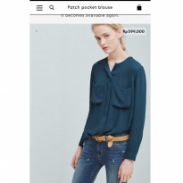 [BLOUSE] MANGO PATCH POCKET BLOUSE