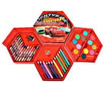 4 in 1 Crayon Set CARS (4 tingkat isi 46 pcs crayon)