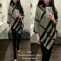 [BLOUSE] TOP PONCHO RAJUT  BURBERRY IMPORT