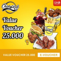 Chick n Roll - Value Voucher 25.000
