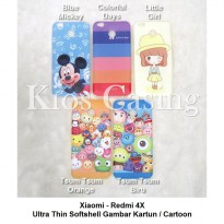 Xiaomi Redmi 4X - Ultra Thin Soft Case Gambar Casing Cover Kartun Cartoon