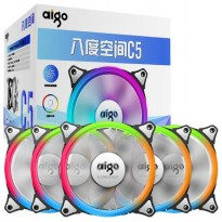 Aigo Aurora C5 CPU Fan RGB LED 120mm 5PCS with Controller