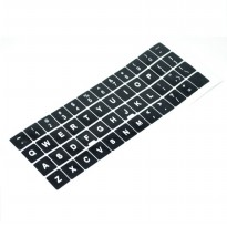 English Layout Sticker for Keyboard / Stiker Keyboard - Black