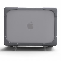 Shockproof Armor Case with Stand for Macbook Pro 13 Touchbar A1706 - Gray