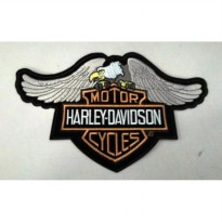 Bordir Eagle Patch Harley Logo.(18x28,5cm)