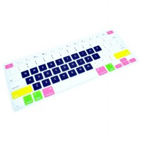 Candy Color Silicone Keyboard Cover Protector Skin for Macbook Pro 17 Inch - Black